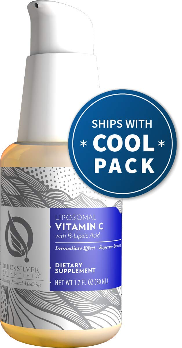 Quicksilver Scientific Liposomal Vitamin C with R-Lipoic Acid - Powerful Antioxidant Formula, Buffered 500 Milligrams Liquid + Nano Technology for Superior Absorption (1.7 Ounces, 50 Milliliters)