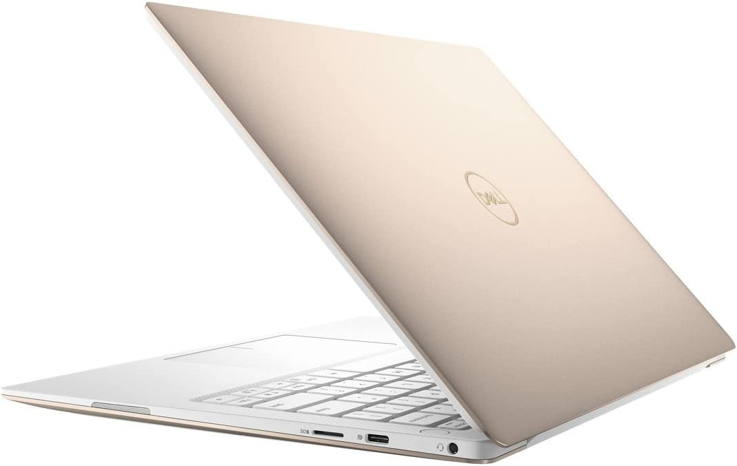 "2019 Dell XPS 9370 13.3"" 4K UHD Multitouch Thin & Light Laptop, Intel Quad Core i7-8550U Upto 4.0GHz, 8GB RAM, 256GB SSD, Backlit Keyboard, Thunderbolt3, Windows 10, Rose Gold with White Palmrest"