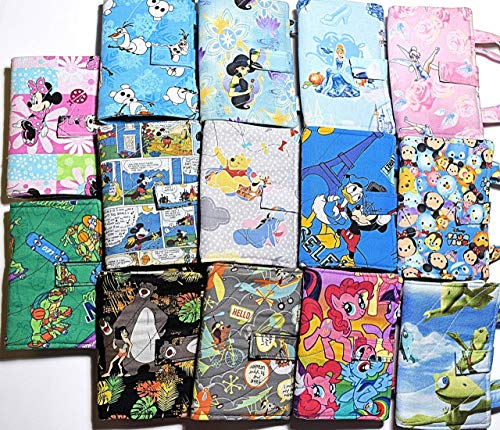 Children's Crayon Notebook,Quilted Bag Set,Your Choice:Olaf,Tsum,Winnie Pooh,Mickey Mouse,Cinderella,Tinkerbell,Princess Jasmine,Ninja from BobbinAround4U