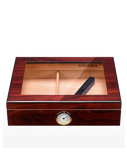 Cajas de Cigarros Retro Portátiles Para Viajes, Caja de Cigarros de Escritorio con Humidificador con