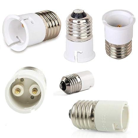 Adaptador de casquillo E27 a B22 para lámpara de techo, 6 ...
