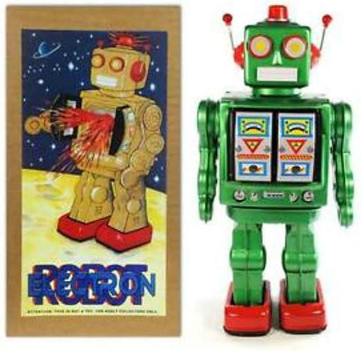CAPRILO Juguete Decorativo de Hojalata Robot Grande China Verde. Juguetes y Juegos de Colección. Regalos Originales. Decoración Clásica.: Amazon.es: Hogar
