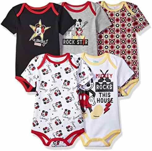 Disney Baby Boys' Mickey 5 Pack Bodysuits