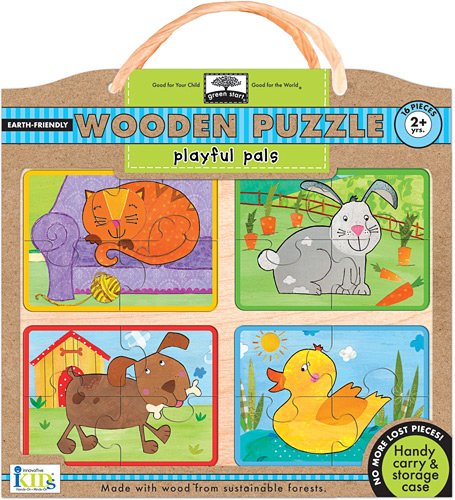 Green Start Wooden Puzzles - Innovative Kids Green Start Wooden Puzzles: Playful Pals (2Yrs+) Puzzle