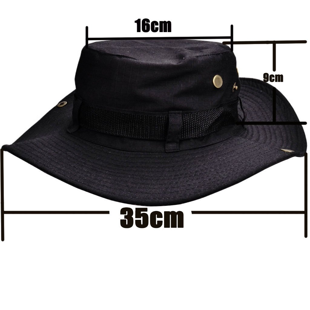d22351645f0 Beileer Stylish Sun Hat UV Protection Outdoor Bucket Hat for Outdoor  Fishing Camping Cycling Hunting Golf Hiking (black)  Amazon.co.uk  Sports    Outdoors