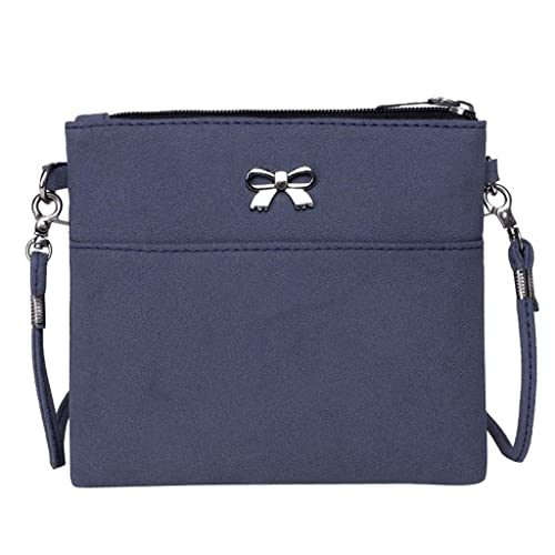 ALIKEEY Mujeres Arco Decoración Crossbody Bolsa Color Puro ...