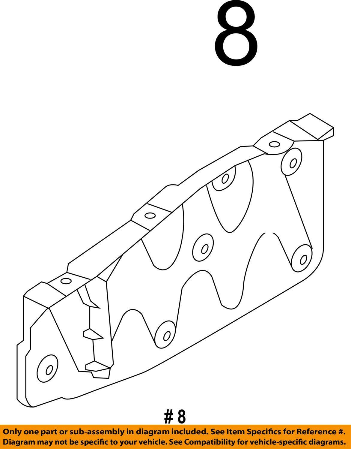 HYUNDAI OEM 13-18 Santa Fe Splash Shield-Engine Side Shield Left 291304Z000 by HYUNDAI (Image #2)
