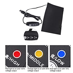 Clothes Heating Pad,5V 2A Lightweight Electric USB Heated Pad Accessory for Outdoor & Indoor & Camping (Style①)
