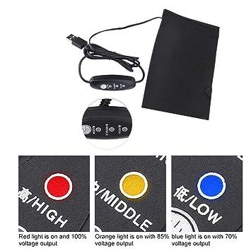 Amazon.com: Ropa almohadilla de calefacción, 5 V 2 A USB con ...