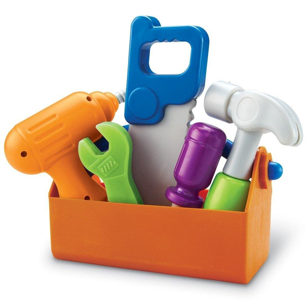 Learning Resources New Sprouts Fix It!, Fine Motor, Pretend Play Toy Tool Set, 6 Piece, Ages 2+ by Learning Resources