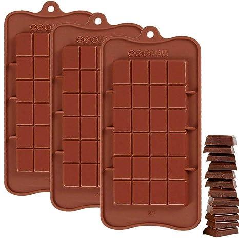 Cuitan Molde de Silicona Rectangular para el Chocolate, Molde de caramelo de gelatina, Molde