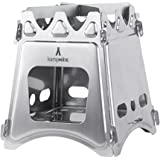 WoodFlame Ultra Lightweight Portable Wood Burning Camping Stove, Backpacking Stove, Stainless Steel with Nylon Carry Case - Perfect for Survival Packs & Emergency Preparedness by kampMATE