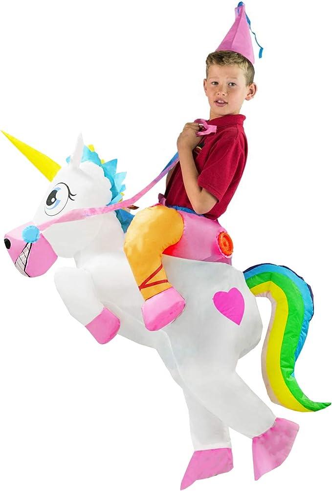 Amazon.com: Disfraz de unicornio inflable para adultos ...