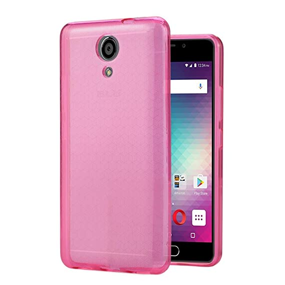 new concept df729 9aeee BLU Life One X2 case, {NFW} TPU Gel Rubber Soft Skin Silicone Protective  Case Cover for BLU Life One X2 (L0090UU)(TPU Pink)