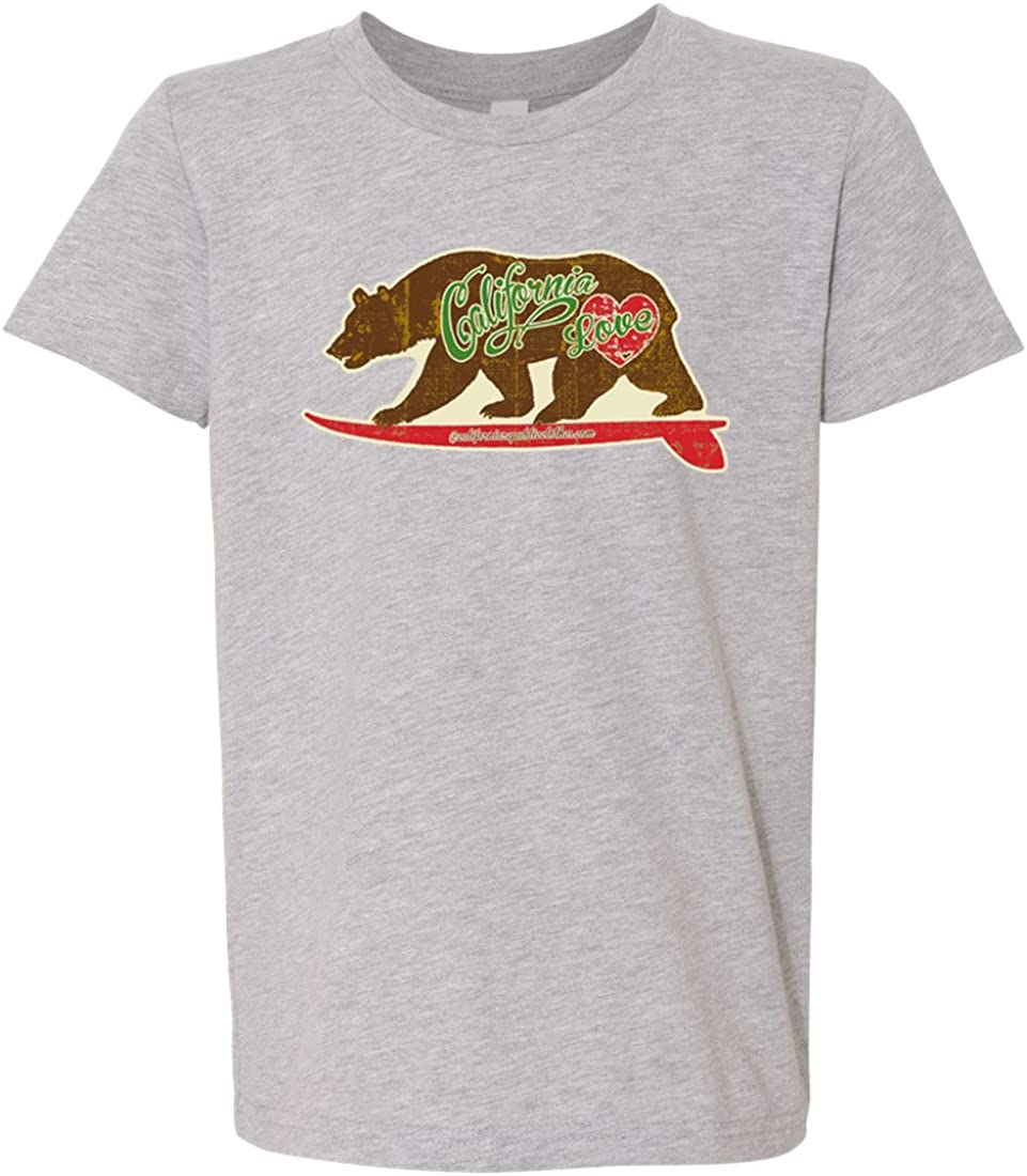 California Love Vintage Surfboard Asst Colors Youth T-Shirt//tee