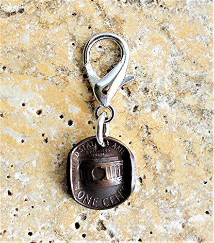 Cowgirl Cowboy Hat U.S. Penny Coin Keychain Purse Bag Charm Lincoln Memorial Key (Brown Frontier Pull)