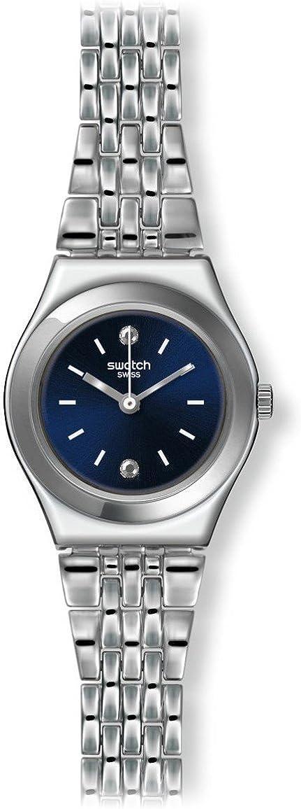Swatch Reloj Digital para Unisex de Cuarzo con Correa en Acero Inoxidable YSS288G