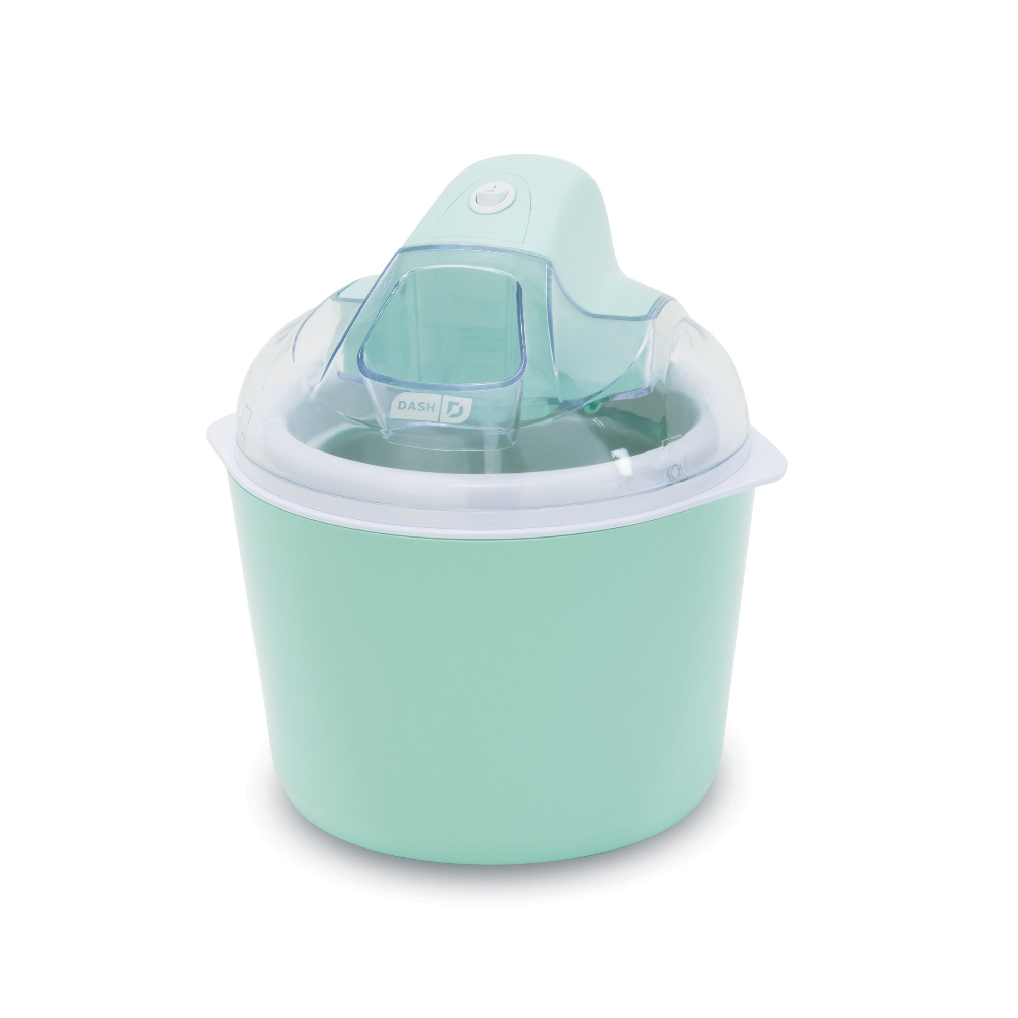 DASH DIC001AQ Deluxe Ice Cream Frozen Yogurt and Sorbet Maker with Easy Ingredient Spout, Double-Walled Insulated Freezer Bowl and Free Recipes, 1 quart, Aqua