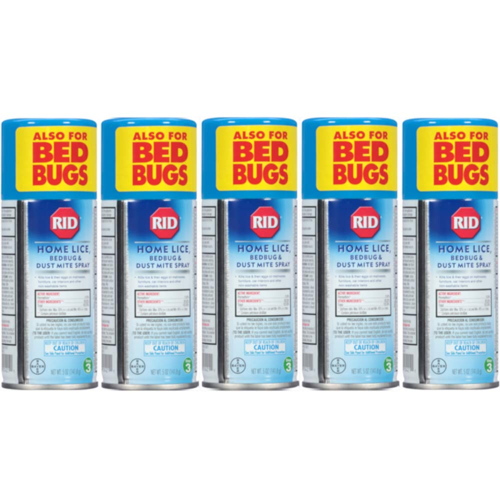 Rid Home Lice, Bedbug And Dust Mite Spray - 5 Ounces (Value Pack of 5) by Rid