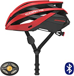 Coros Omni Smart Cycling Helmet w/Bone Conducting Audio, LED Tail Lights & Removable Visor | 18 Vents for Better Cooling | Connects via Bluetooth for Music, Calls & Navigation | Lightweight