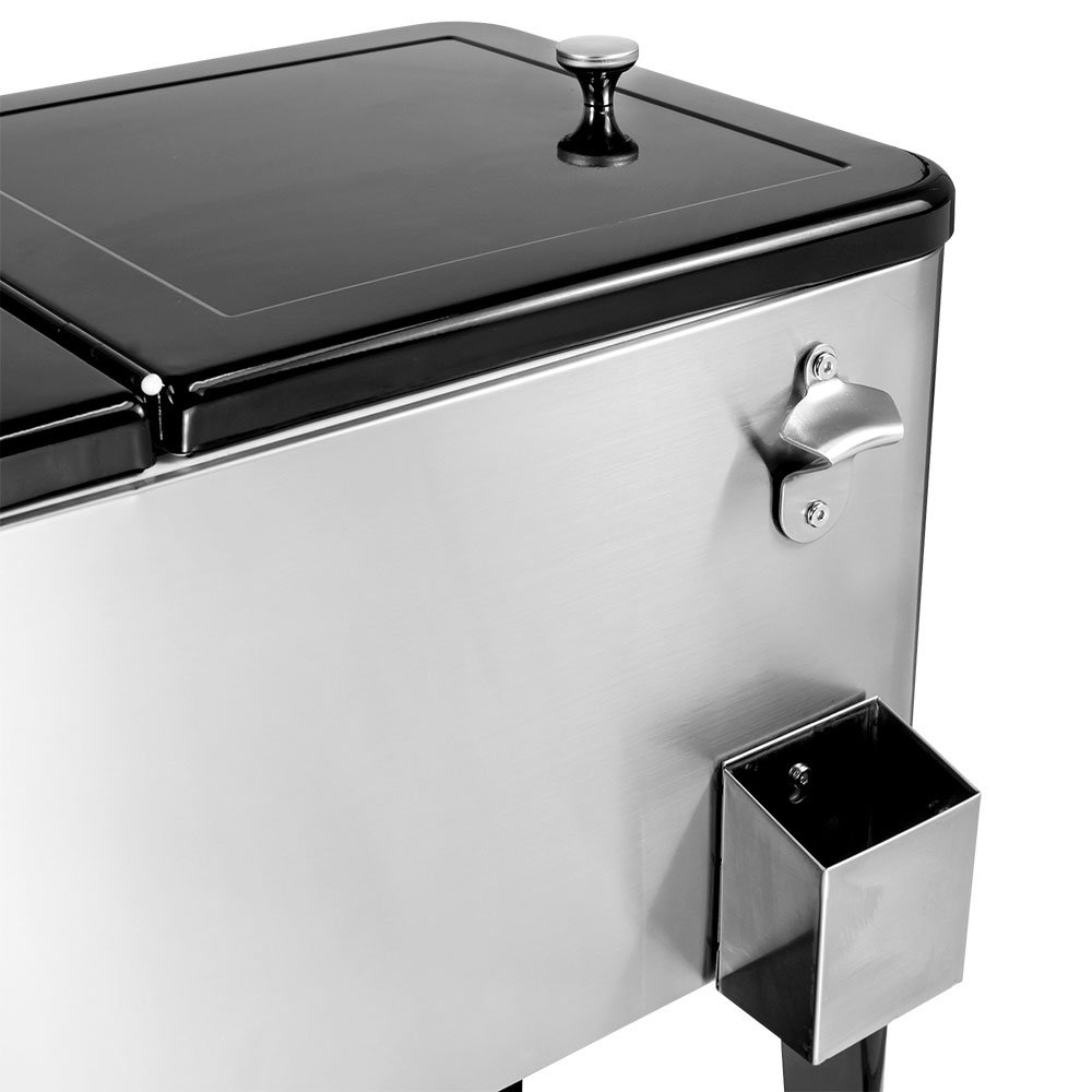 Stainless Portable Patio Cooler Cart 80 qt Gusto