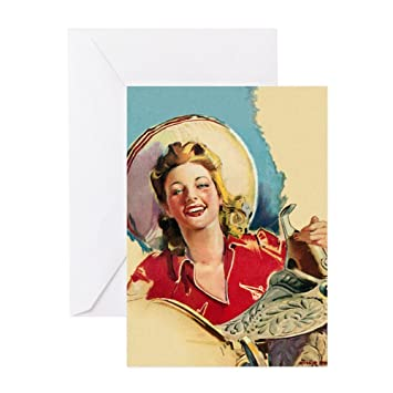 Amazon Cafepress Hot Cowgirl Greeting Card Note Card