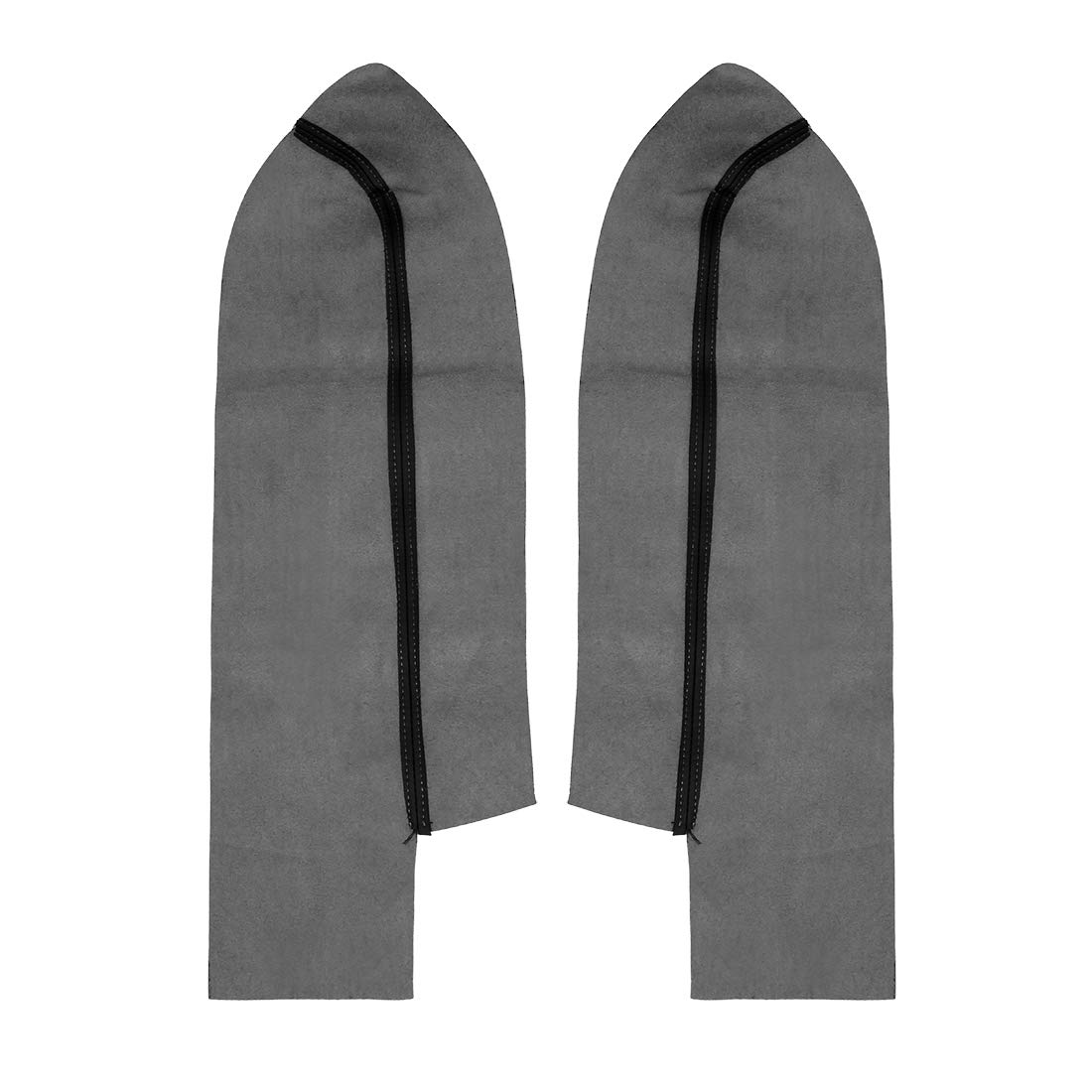 X AUTOHAUX Pair Synthetic Leather Car Front Door Panels Armrest Cover Black for 2007-2012 Honda CR-V