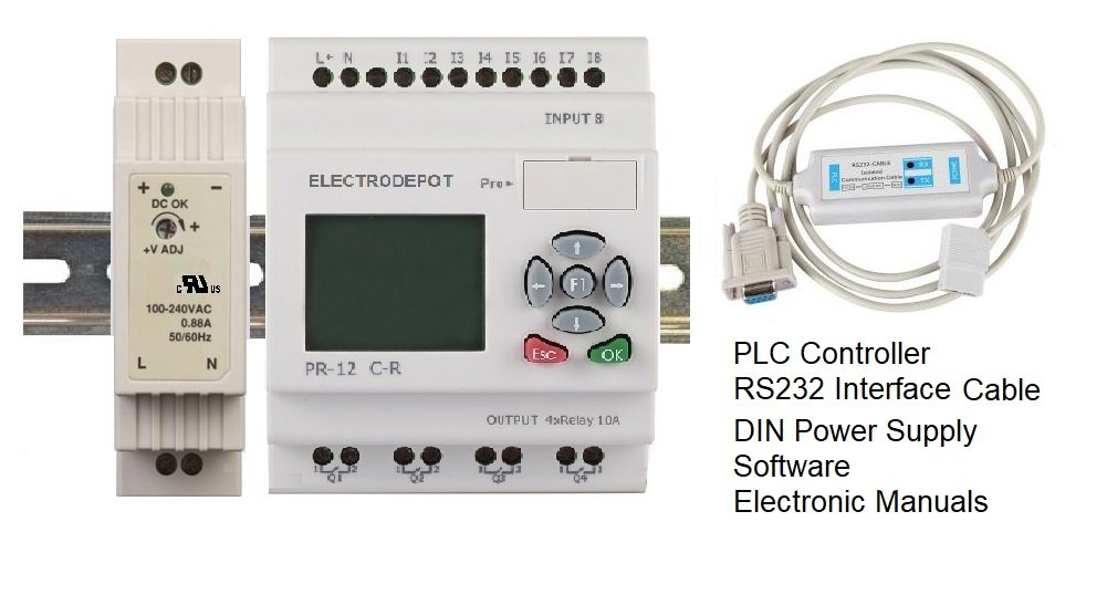 PLC Starter kit Professional Programmable Logic Controller, New IEC standard Programming Software