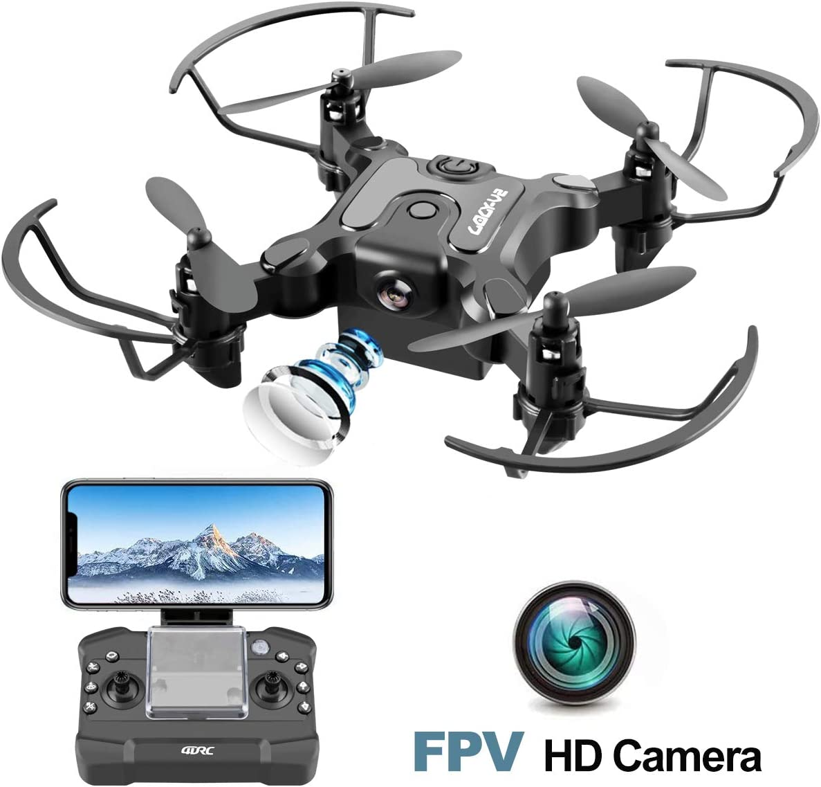 4DRC Mini Drone with 720p Camera for Kids and Adults, Drone Beginners RC Foldable FPV Live Video Quadcopter,App Control,3D Flips and Headless Mode,One Key Return,Altitude Hold,3 Modular Battery