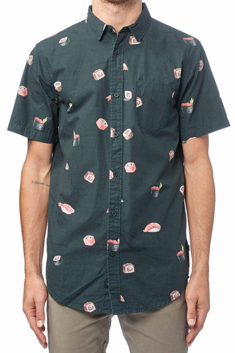 Globe Sushi SS Shirt Camicia, Uomo, Uomo, GB01724012, Nero, L