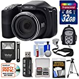 Minolta MN35Z 1080p 35x Zoom Wi-Fi Digital Camera (Black) with 32GB Card + Backpack + Flash + Tripod + Strap + Kit