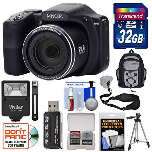 Minolta MN35Z 1080p 35x Zoom Wi-Fi Digital Camera  with 32GB