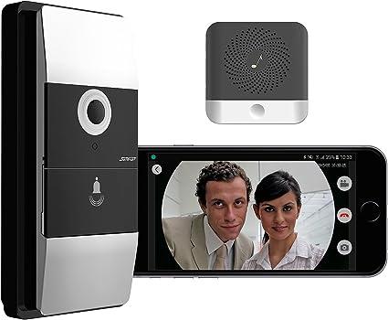 Visiophone Sans Fil 180 Avec Wifi Et Contrôle Par Application Avec Carillon Somikon Amazon Fr Bricolage