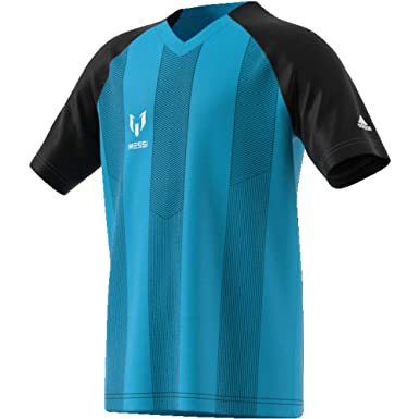 ADIDAS Messi Boy s Icon Jersey (Blue and Bright Cyan 324a85528