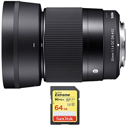 Amazon Com Sigma 30mm F1 4 Dc Dn Lens For Sony E Mount Bundle With