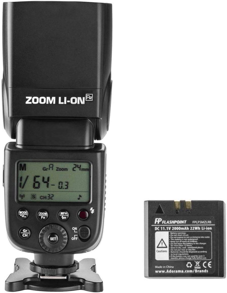 Flashpoint Zoom Li-on Manual R2 On-Camera Flash Speedlight (V850II)