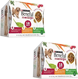 Purina Beneful Prepared Meals Adult Wet Dog Food - (8) 10 oz. Tubs (Tuscan, Romana & Mediterranean Style, 2 Pack (Each 12 cans))