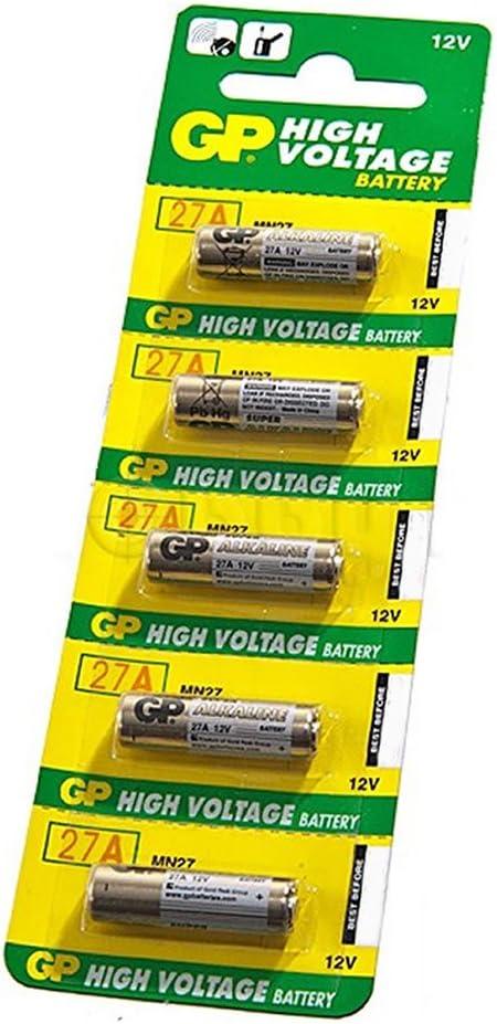 GP Alto Voltaje Batería 27A PK5 12v [5 Empacar]