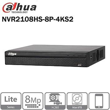 Dahua 8Ch Compact 1U Lite Network Video Recorder HDMI//VGA Output NVR2108HS-S2