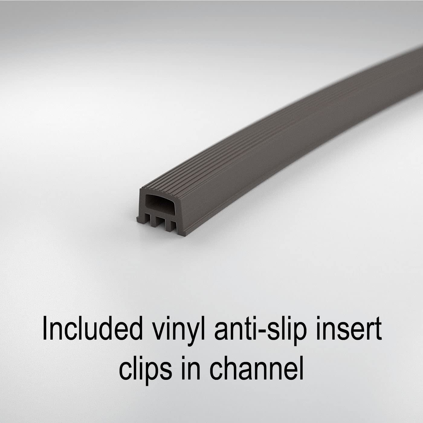 Handrail Tubing with Anti-Slip Insert 1.6 Round for Promenaid Handrail System Only Champagne Silver Anodized Aluminum 8 ft