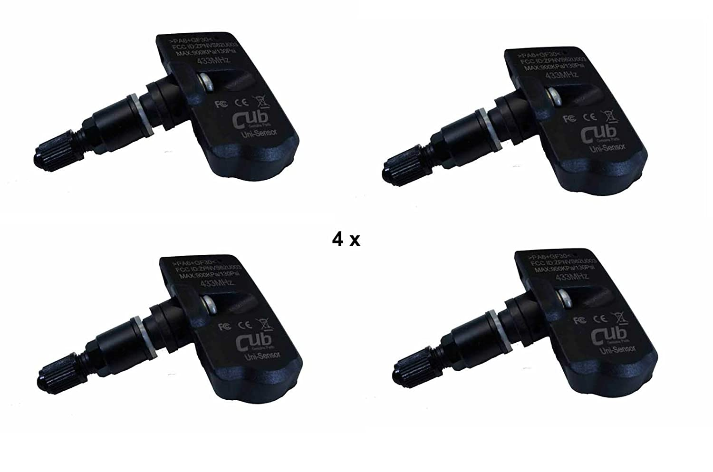 4x CUB 861111 sensores de presió n de los neumá ticos TPMS programado ( vá lvula negro ) CUB ELECPARTS INC.