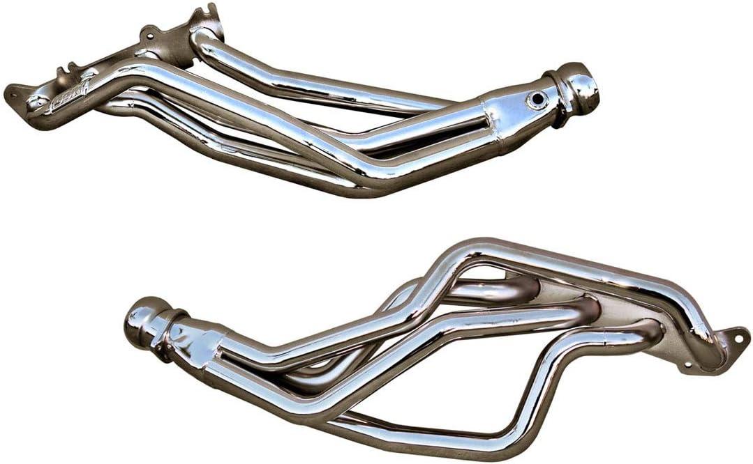 BBK 1633 1-3//4 Long Tube Full Length High Flow Performance Exhaust Headers For Mustang GT Chrome Finish