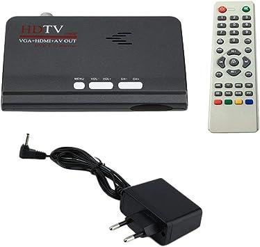 Lorenlli TV Digital terrestre HDMI 1080P DVB-T / T2 Smart TV VGA AV CVBS Receptor del sintonizador con Control Remoto HDMI HD 1080P VGA DVB-T2 Smart TV: Amazon.es: Electrónica