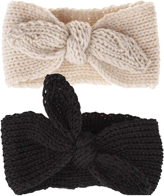 Yukong Kids Baby Bohemian Turban Headbands Super Soft Cotton Cute Knot Hair Band