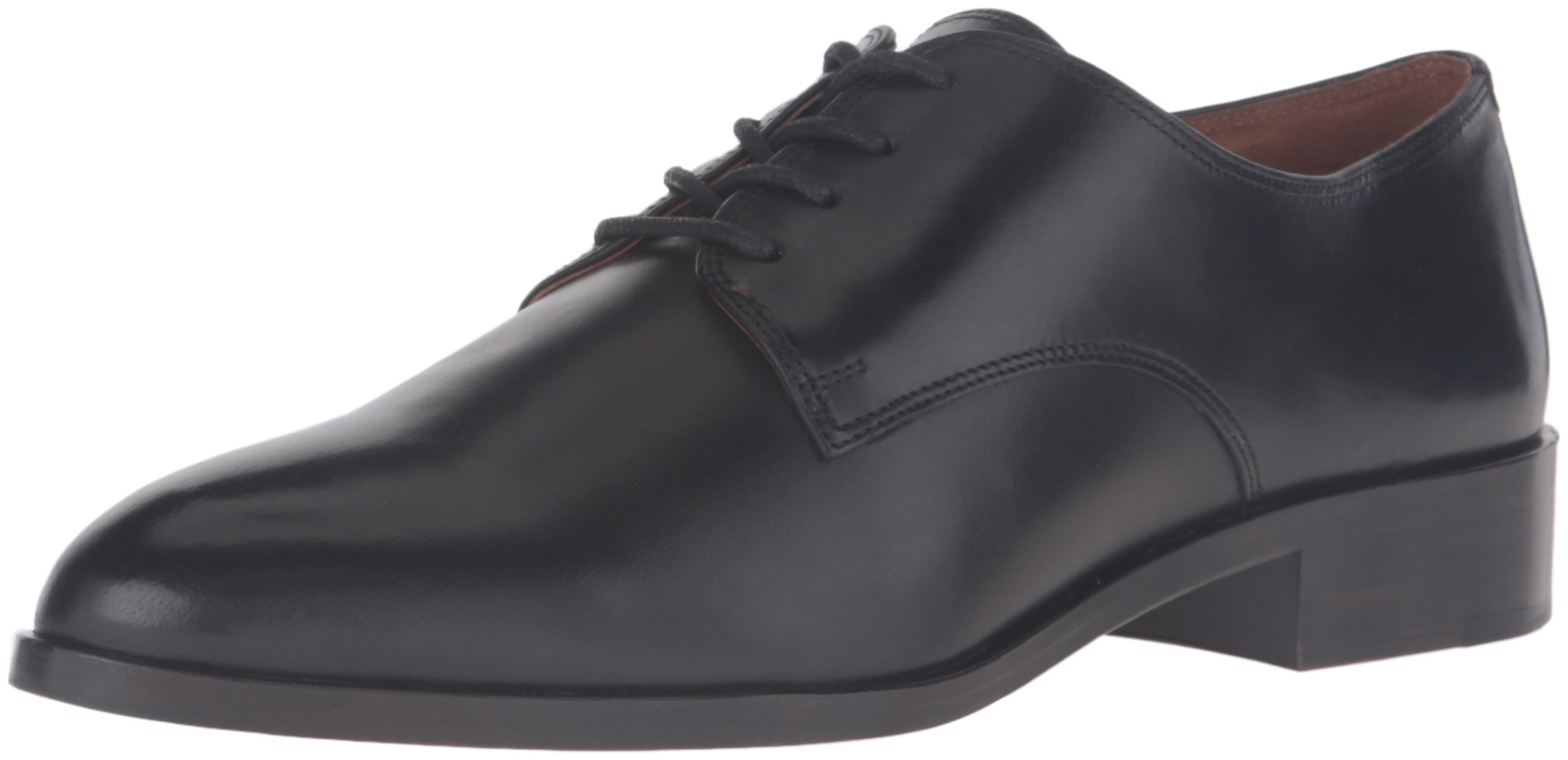 FRYE Women's Erica Oxford, Black Smooth Veg Calf, 8.5 M US