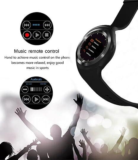 Efanr Y1 redondo Bluetooth reloj inteligente, pantalla ...
