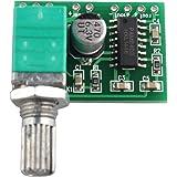 HALJIA, scheda amplificatore audio PAM8403,5V, USB, a canali, 3W x 2Volume per Arduino Raspberry Pi, fai da te, etc