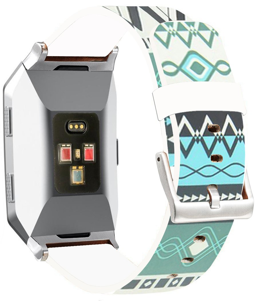 Fitbit Ionicバンドレザー – endiy Fitbit Ionicストラップスモール&ラージシルバーレディースメンズ – 面白いデザイン印刷Hallowmas All Saints ' Day Gift Present [Fitbit Ionic] A 71 A-71 A-71 B07788R9Q5