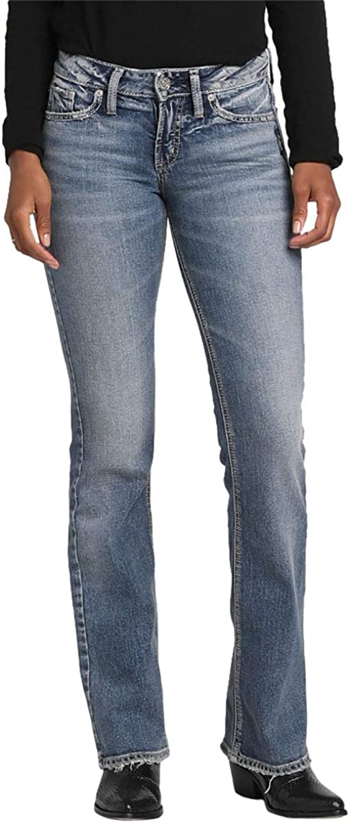 Womens Suki Curvy Fit Mid Rise Bootcut Jeans Silver Jeans Co