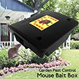 LEEPRA Garden Pest Control Tool Lockable Mouse Rodent Plastic Poison Bait Box With Key